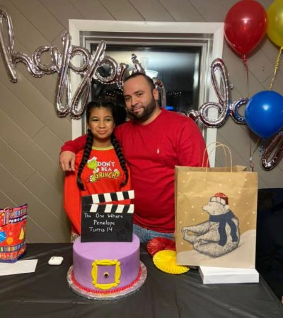 Incarcerated Man and Daughter at birthday party